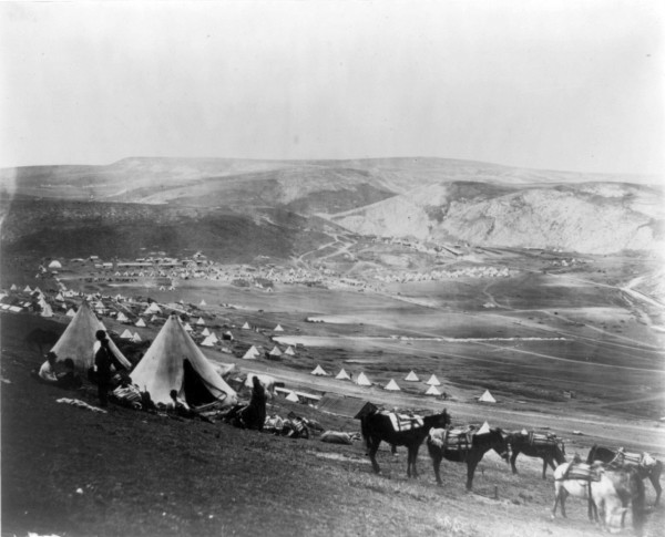 Кавалерийский лагерь под Балаклавой (Cavalry camp near Balaklava.  Encampment of Horse Artillery)